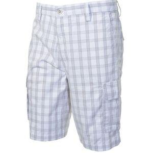 Mens Dockers Plaid Shorts White Grey Brown 34